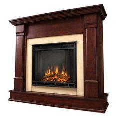 Real Flame Silverton Electric Fireplace - Dark Mahogany - G8600E-DM