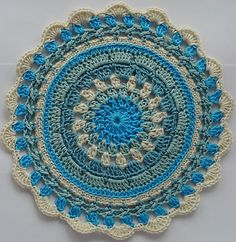 Ravelry: Lace and Texture Mandala pattern by Agrarian Artisan