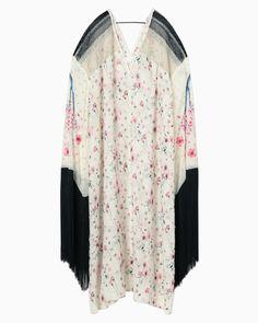 Cherry Blossom Motif Fringe Dress - pink