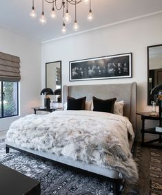 Transitional Bedroom Ideas - We have included so many bedroom designs currently and without a doubt, you still such as to see more due to the fact that we never ever get sufficient of bedroom interior design ideas that . Dream Rooms, Dream Bedroom, Home Bedroom, Bedroom Ideas, Bedroom Black, Bedroom Inspiration, 1920s Bedroom, Bedroom Decor For Women, Grey Bedrooms