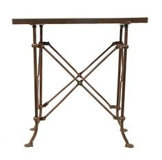 Amazon.com: Creative Co-Op DA0124 Metal Table with Bronze Finish: Kitchen & Dining