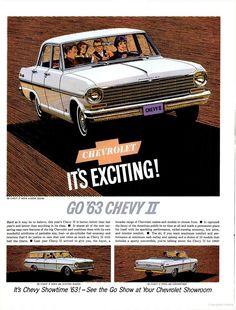 1963 Chevy New Car Line-Up (1962)  Chevy II Nova
