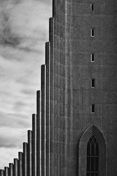 Hallgrimskirkja, reykjavik, iceland. by architect guðjón samúelssonby Max A.