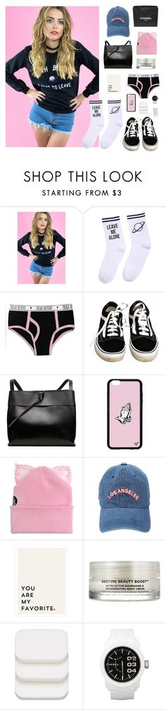 """Yeahbunny ✨"" by jesicacecillia ❤ liked on Polyvore featuring Yeah Bunny, Chanel, Vans, Silver Spoon Attire, Oskia, COVERGIRL, Diesel and Nails Inc."