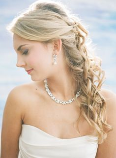 Like the hair and the earrings How To Choose Your Wedding Day Jewelry