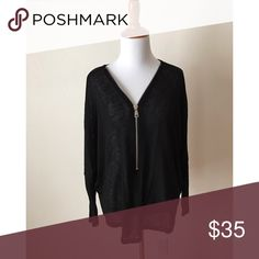 🆕 Jolie Black Zip Up Dolman Top New, no tags attached as item was purchased directly from the vendor. Available in S, M, L. More colors listed separately. Open to bundle offers. Material is 49% rayon, 47% polyester, & 4% spandex. Loose fit. Model pictures to come. Jolie Tops