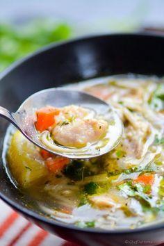 Pressure Cooker Chicken Noodle Soup: 20 minutes #Soup #Chicken_Noodle #Pressure_Cooker