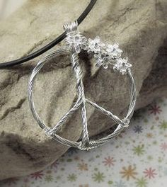 VickieGould: Peace Sign Bouquet, Wire Jewelry Tutorial