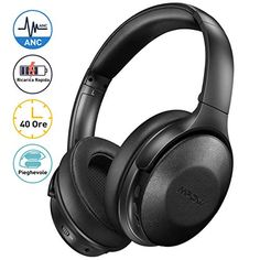 Mpow Active Noise Cancelling Headphones, Version] Bluetooth Headphones Over Ear with Playtime, Quick Charge. Wireless Headset, Bluetooth Headphones, Noise Cancelling Kopfhörer, Bass, Headphones With Microphone, Cool Things To Buy, Stuff To Buy, Portable, Amazon
