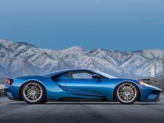 ford gt, 2017, rennwagen, blau, ford, amerikanische autos