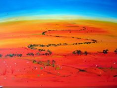 The red heart of Australia - known as the inland or the outback . Australian Desert, Desert Art, Travel Wallpaper, Nature Paintings, Landscape Art, Deserts, Abstract Art, Inspiration, Cities