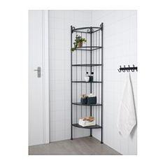 RÖNNSKÄR Kulmahylly, musta - - - IKEA