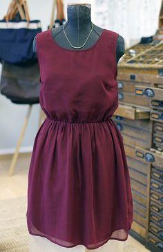ONLY Vero Moda Chiffon Kleid Burgunder Rot Bordeaux Sommer Frühling Größe 38 / M - kleiderkreisel.at