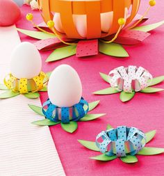 * * * The idea box of the I & # workshop * * *: DIY Easter Easter Art, Easter Crafts, Easter Eggs, Spring Crafts, Holiday Crafts, Paper Balls, Diy And Crafts, Crafts For Kids, Ideias Diy