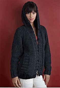 Knit - This is a Great UNISEX Cardigan for Women or Men - Women's S-3X & Men's XS-XXL - Bulky Weight [5] Yarn