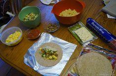 Breakfast burritos - Make ahead