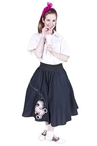 1950s Girl wearing Poodle skirt