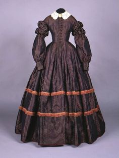 Day dress ca. 1860, Connecticut Historical Society