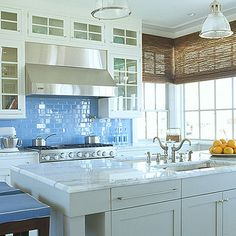southernaccents + blue tile kitchen - Google Search