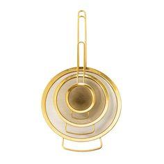 Küchensiebe, Gold Finish, 3tlg.