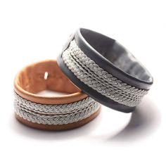 Sami style lapland bracelet Leather cuff multi by simplyyoujewelry