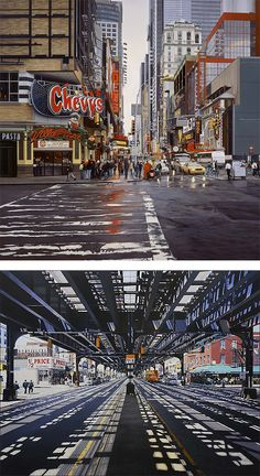 Realistic City Paintings by Nathan Walsh | Inspiration Grid | Design Inspiration