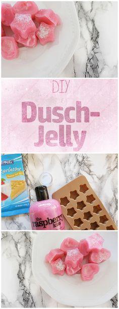 Das ideale Beauty Geschenk für groß und klein zum selber machen: Dusch Jellys mit Glitzer DIY Beauty Anleitung Do it Yourself Tutorial: Duschjellies