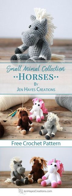Small Animal Collection: Horse | A Free Pattern by Jen Hayes Creations