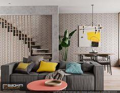 Thiết kế căn hộ sử dụng gam màu trung tính làm chủ đạo. Một số màu sắc như vàng, xanh tạo thành các nét chấm phá trên nền màu trung tính. #saokimdecor #livingroom #livingrooms#phòngkhách #リビング #saladeestar #wohnzimmer #salon #interior #interiordesign #interiors #apartment #apartments #chungcư #scandinavian #インテリア#interieur #innenraum #scandinavian