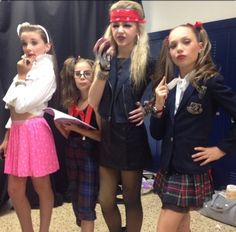 Kendall Vertes,Maddie/MacKenzie Ziegler, and Chloe Lukasiak Dance Moms Costumes, Dance Moms Dancers, Dance Mums, Dance Moms Girls, Girl Dancing, Dance Outfits, Girl Costumes, Costume Ideas, Halloween Costumes