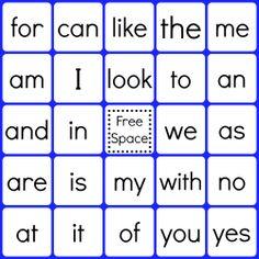 QR Code Sight Word Bingo - Google Drive