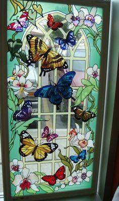 Stained glass en la escalera