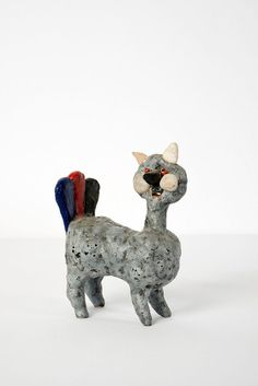 Guidette Carbonell; Glazed Earthenware Figure, 1965.