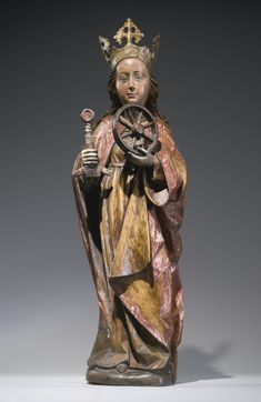 Austrian, Salzburg, first half 15th century SAINT CATHERINE