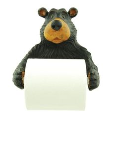 This paper holder is sure to get noticed among your friends and family. Bear toilet paper holder is wall mountable with wall hangers on back. Bear holding a roll of toilet paper Wall mounted with hangers on back Unique Great detail x Unique Toilet Paper Holder, Paper Towel Holder, Paper Holders, Towel Holders, Gothic Themes, Wall Hanger, Hangers, Primitive Bathrooms, Bear Theme