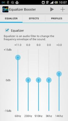 Equalizer + Mp3 Volume Booster is a music player with equalizer and visualizer. It's a professional and the best music player for android. It will make your music sounds like you've never had before.<br>Intuitive music player, uses simple, useful and innovative controls. The most professional music player designed for music enthusiasts and students!<br>Using the professional audio decoding technology, it will play the music perfectly and realise high-fidelity playback. Besides, the most…