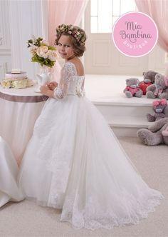 38c798cb7b2 Flower Girl Dresses Elegant Satin Flower Girl Dress For Junior Bridesmaid  with Crochet Top. Junior Bride ...