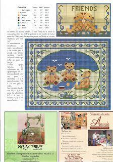 Teddy friends cross stich for nursery page 1