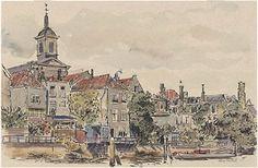 552_231483 Voorstraatshaven Gezicht op de bebouwing aan de waterzijde der Wijnstraat tegenover … - Regionaal Archief Dordrecht