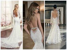 Low Back Collage Backless Wedding Dresses