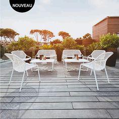 Salon de jardin Fermob Monceau : 1 table basse + 2 fauteuils | 2 ...
