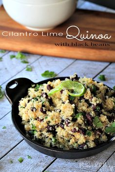 Cilantro Lime Quinoa with Black Beans recipe [This would be so delicious with #FairTrade quinoa!]