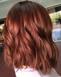 by shelbywhitehair Red Hair Colour, Copper Hair Colors, Auburn Hair Colors, New Hair Colors, Red Balayage, Dyed Hair, Love Hair, Great Hair, Wedding Hair
