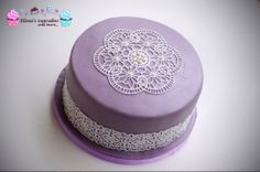 Purple lace cake!