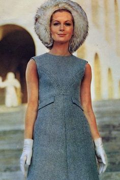 1969 Model is wearing a creation by Valentino