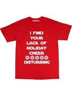 "Men's ""Holiday Cheer"" Tee by Rudechix (Red) #inkedshop #holiday #cheer #starwars"
