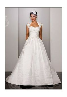 Taffeta and Lace Sweetheart Ball Gown 2 in 1 Wedding Dress  $349