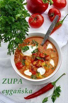 Zupa cygańska to tania, prosta i pyszna rozgrzewająca zupa, idealna na jesienny obiad. Czemu zupa cygańska? Bo to potrawa prosta , a kuchnię cygańską charakteryzują wieloskładnikowe gulasze, kociołki albo gęste zupy. Ta kuchnia w jakimś stopniu odzwierciedla też romskie wędrówki po … Czytaj dalej → Healthy Dishes, Healthy Cooking, Healthy Eating, Healthy Recipes, Soup Recipes, Cooking Recipes, Home Food, Indian Food Recipes, Food Porn