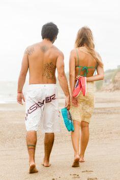 En la playa con PAMPS 2014. Alpargatas Coral y Celeste rayas