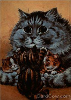 Kittens, (Reproduction) Louis Wain Cats